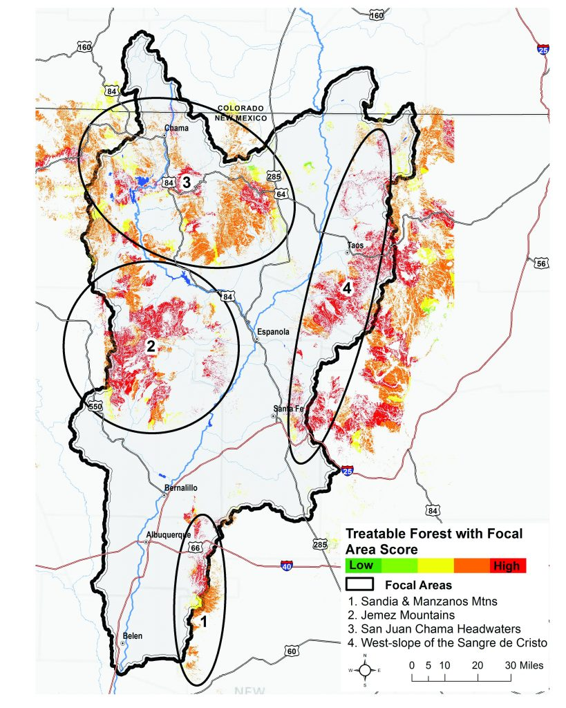Rio Grande Water Fund focal area map